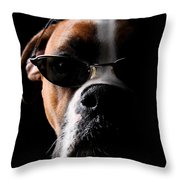 Cool Dog Throw Pillow by Jt PhotoDesign