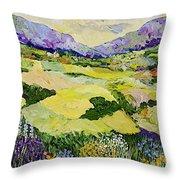 Cool Grass Throw Pillow