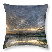 Cool Harbor Throw Pillow