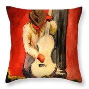 Cool Jazz Served Hot Throw Pillow