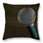 Cool Microphone Throw Pillow