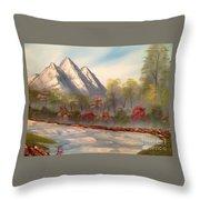 Cool Mountain River Throw Pillow