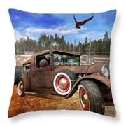 Cool Rusty Classic Ride Throw Pillow