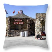 Cool Springs Service Station Throw Pillow