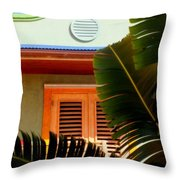 Cool Tropics Throw Pillow by Karen Wiles