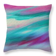 Cool Waves - Abstract - Digital Painting Throw Pillow