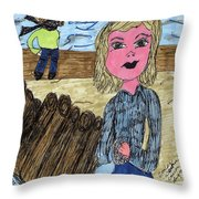 Cooler Weather Cooler Days Throw Pillow