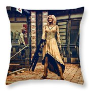 Coolest Cat In Town Throw Pillow