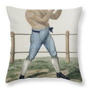 Cooper The Gipsy, Engraved By P Throw Pillow