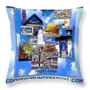 Cooper Young Festival Poster 2008 Throw Pillow