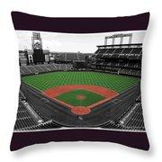 Coors Field 2 Throw Pillow