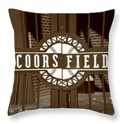 Coors Field - Colorado Rockies 15 Throw Pillow by Frank Romeo