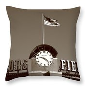 Coors Field - Colorado Rockies 16 Throw Pillow