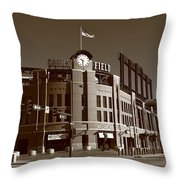Coors Field - Colorado Rockies 17 Throw Pillow