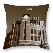 Coors Field - Colorado Rockies 18 Throw Pillow