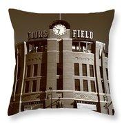 Coors Field - Colorado Rockies 20 Throw Pillow