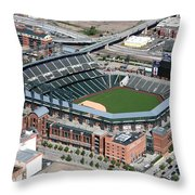 Coors Field Denver Throw Pillow
