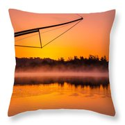 Coos Bay Sunrise II Throw Pillow