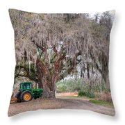 Coosaw Cross Roads With Live Oak Throw Pillow