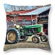 Coosaw - John Deere Tractor Throw Pillow