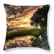 Coosaw Plantation Sunset Throw Pillow