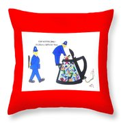 Cop-ketteling Crowd Controll Throw Pillow