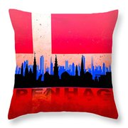 Copenhagen City Throw Pillow