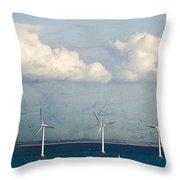 Copenhagen Wind Turbines Throw Pillow