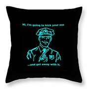 Copkickingass Aquamarine Throw Pillow