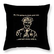 Copkickingass Sepia Throw Pillow