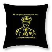 Copkickingass Yellow Throw Pillow