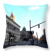Copley Square - Old South Church Throw Pillow