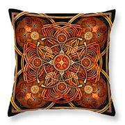 Copper And Gold Celtic Cross Throw Pillow