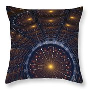 Copper Cathedral Throw Pillow