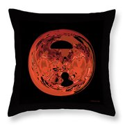 Copper Disk Abstract Throw Pillow
