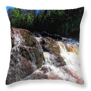 Copper Falls Throw Pillow