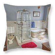 Copper King Victorian Bathroom - Butte Montana Throw Pillow