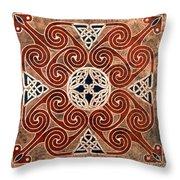 Copper Knot Throw Pillow