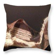 Copper Mesh Throw Pillow by Erika Chamberlin