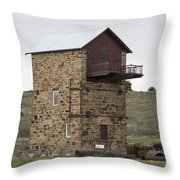 Copper Mine Enginehouse Throw Pillow