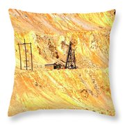 Copper Mine Throw Pillow