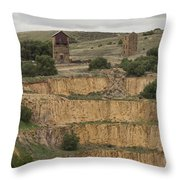 Copper Mine Throw Pillow