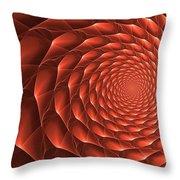 Copper Spiral Vortex Throw Pillow