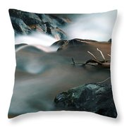 Copper Stream 2 Throw Pillow