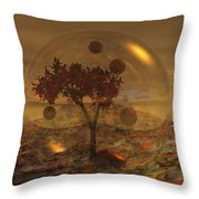 Copper Terrarium Throw Pillow