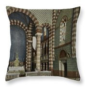 Coptic Church, Cairo, Egypt, 1906 Throw Pillow by Getty Research Institute