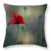 Coquelicot Impression Throw Pillow