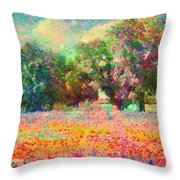 Coquelicots Throw Pillow