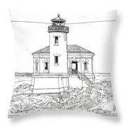 Coquille River Light Throw Pillow