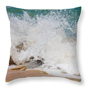 Coquina Waves Throw Pillow